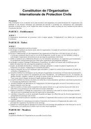Constitution de l'Organisation - ICDO