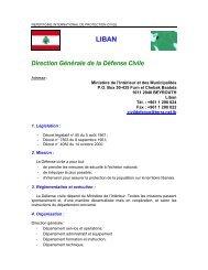 LIBAN Direction Générale de la Défense Civile - ICDO