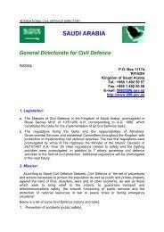 SAUDI ARABIA General Directorate  for Civil Defence - ICDO