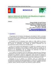 MONGOLIE - ICDO