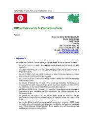 TUNISIE Office National de la Protection  Civile - ICDO