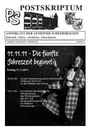 Amtsblatt Oktober 2011 - Gemeinde Ichtershausen