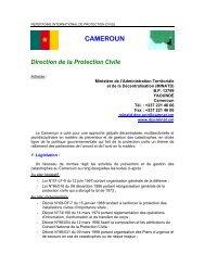 CAMEROUN Direction de la Protection  Civile - ICDO