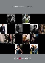 Annual Report 2005/06 - IC Companys A/S