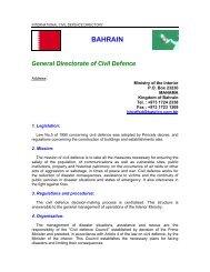 BAHRAIN General Directorate of Civil Defence - ICDO