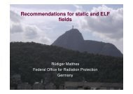 Recommendations for static and ELF fields - icnirp