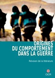ORIGINES DU COMPORTEMENT DANS LA GUERRE - Révision de  ...