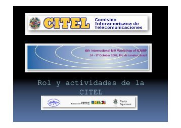 Rol y actividades de la CITEL - icnirp