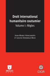Droit international humanitaire coutumier - International Committee ...
