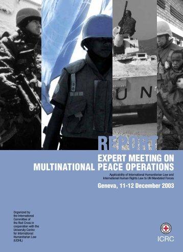 Expert meeting on multinational peace operations - International ...