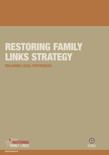 Restoring family links strategy - International Committee of the  Red ...