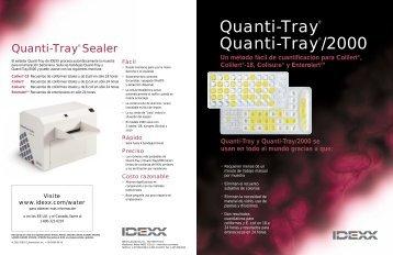 Quanti-Tray® Quanti-Tray®/2000 - IDEXX Laboratories