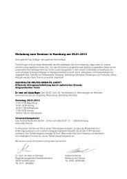 Einladung zum Seminar in Hamburg am 26.01.2013