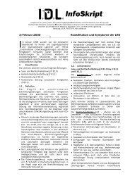 Klassifikation und Symptome der LRS - IDL