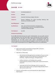 Stellenbeschreibung Vertrieb - idl.eu