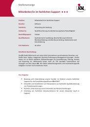 Mitarbeiber fachlicher Support - idl.eu