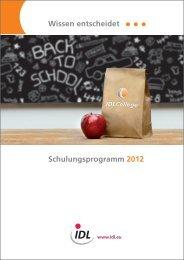 Schulungsprogramm (PDF) - idl.eu