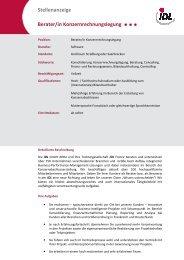 Stellenbeschreibung Berater_Beraterin Konsolidierung_V2 - idl.eu