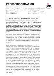 presseinformation - IDL