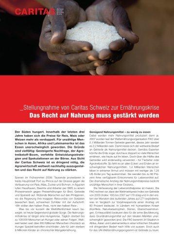 Stellungnahme - CARITAS - Schweiz