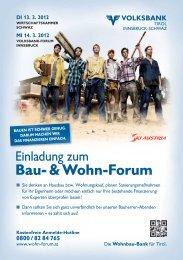 Bau- & Wohn-Forum - Volksbank Tirol Innsbruck-Schwaz AG
