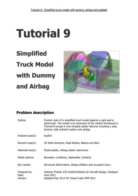 Tutorial 9 A Truck With Dummy Airbag Pdf