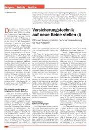 Versicherungstechnik auf neue Beine stellen (I) - ifb AG