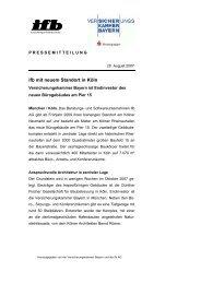 ifb mit neuem Standort in Köln - ifb AG
