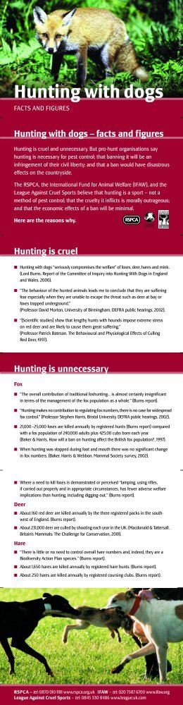 hunting with dogs facts and figures.pdf -  International Fund for ...