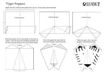 Tijger Origami