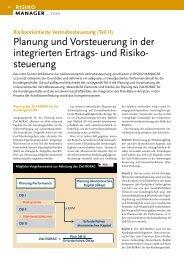 Planung und Vorsteuerung in der integrierten Ertrags und ... - ifb AG