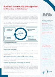 Business Continuity Management - ifb AG