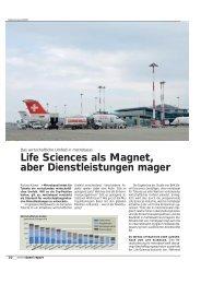 Life Sciences als Magnet, aber Dienstleistungen mager