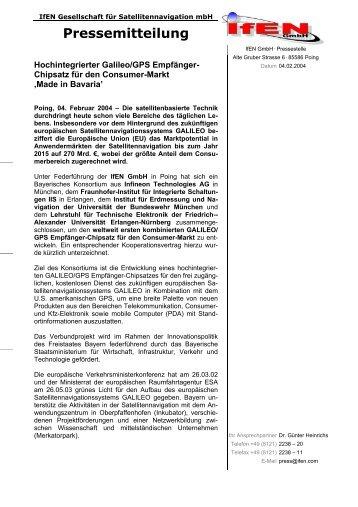 Pressemitteilung - IFEN