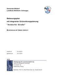 Begründung - Gemeinde Iffeldorf