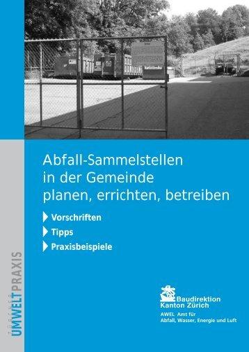 Abfall-Sammelstellen in der Gemeinde planen, errichten ... - Abfall.ch