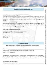 Partnerschaftskomitee Iffeldorf Anmeldeformular - Gemeinde Iffeldorf
