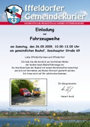 Einladung Fahrzeugweihe Bauhof - Gemeinde Iffeldorf