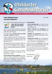 Iffeldorfer Gemeindekurier - Gemeinde Iffeldorf
