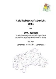 Abfallwirtschaftsbericht 2011 - Gemeinde Iffeldorf