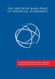 the deutsche bank prize in financial economics - Center for Financial ...
