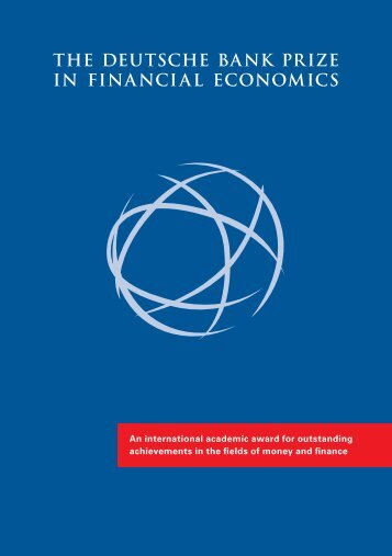 the deutsche bank prize in financial economics - Center for Financial ...