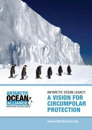 a vision for circumpolar protection - Antarctic Ocean Alliance