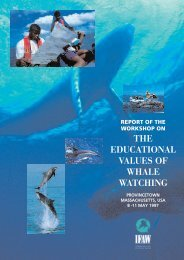 Educational values of whale watching - International Fund for ...