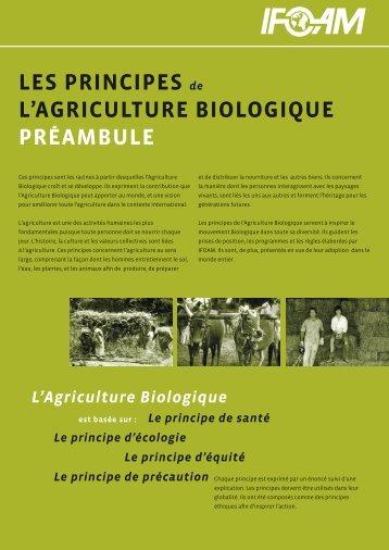 LES PRINCIPES de L'AGRICULTURE BIOLOGIQUE ... - ifoam