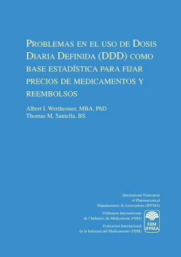 problemas en el uso de dosis diaria definida (ddd) como ... - IFPMA