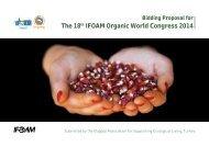 BIDDIng PrOPOSAL FOr THE 18th IFOAM OrgAnIC WOrLD
