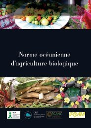 Norme océanienne d'agriculture biologique - ifoam