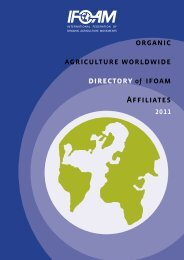organic agriculture worldwide directory of ifoam Affiliates