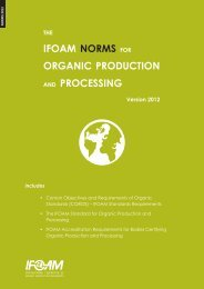 IFOAM NORMS FOR ORGANIC PRODUCTION AND PROCESSING